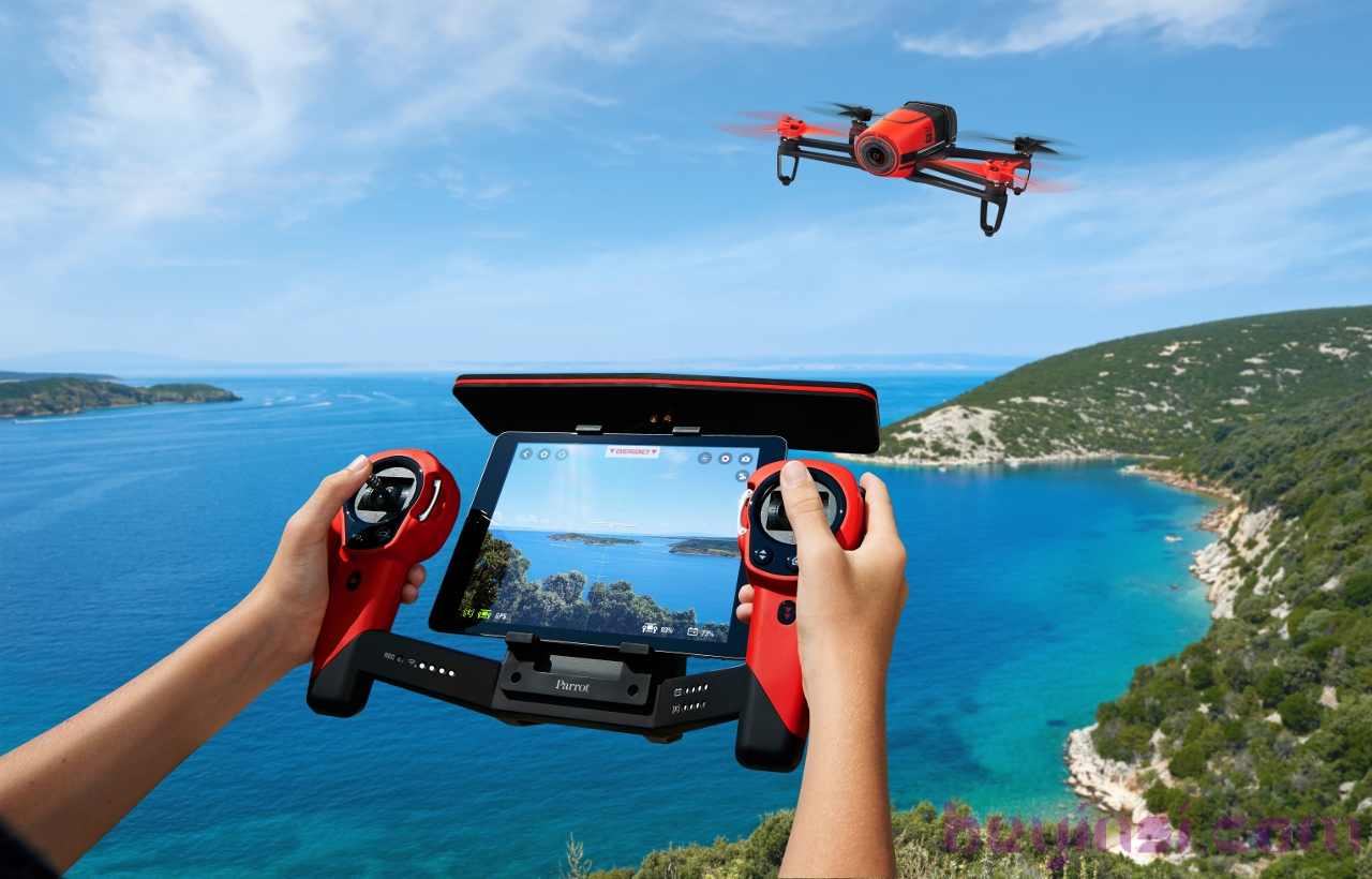 Parrot-Skycontroller_Bebop-Drone_Red
